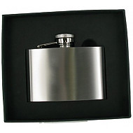 Artamis Stainless Steel 4oz Brushed Chrome Hipflask (FL4BR)