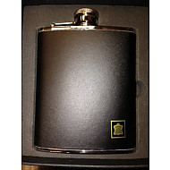 Artami Black Leather Flask 6oz