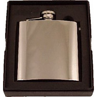 Artamis 6oz Polished Steel Flask (FL5)