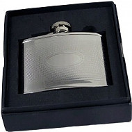 Artamis Barley Finish Flask with Engraving Plate 4oz (FL11)